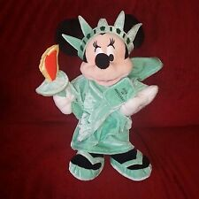 Disney Store Excl NYC Statue of Liberty MINNIE MOUSE Teal Soft Velour 12in Plush