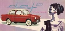 Daf 600 1959-60 UK Market Foldout Sales Brochure