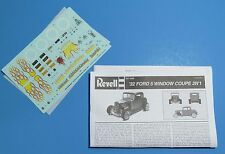 Revell 1932 Ford 5-Window Coupe 2n1 Special Edition Decals & Instructions 1/25