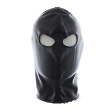 Quality PU Leather Gimp Eyes Open Mask Hood Fetish Bondage Restraint