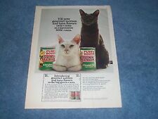 "1970 Puss'n Boots Fish Flavor Cat Food ""Till Now Gourmet Salmon and Tuna Flavors"