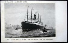 **SHIP**1900's HOLLAND - AMERICA LINE ~ T. S. S.  NEW AMSTERDAM