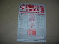 Feuille de match N°10 ASNL  Nancy - Laval (2013-2014)