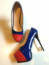 RARE - VALENTINO GIARO - COVERED-CAPTOE PLATFORM STILETTOS, SIZE 13W