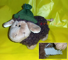 "Peluche Plush - NICI Pecora con berretto, Brown sheep - 15 cm. 5,9"" - USED"