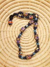 African Recycled Trade Bead Necklace new Africa ethnic tribal jngp29