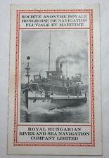 Vintage ROYAL HUNGARIAN RIVER AND SEA NAVIGATION COMPANY Time Table Brochure