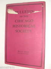 Chicago Historical Society Bulletin Vol 1 #3 May 1935 Revolutionary War Letters