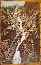 ~1915  PIKES PEAK, SEVEN FALLS, COLORADO SPRINGS LOT OF 2 ANTIQUE POSTCARDS