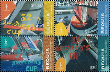 Bequia Block of 4 Stamps Ships/Sailing Vessels