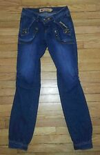 2296 Sz 7/8 28x31 Blue APPLE BOTTOMS Sweet to the Core Designer Jeans!