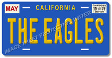The Eagles Band Hotel California May 1979 Prop Relica Aluminum License Plate Tag