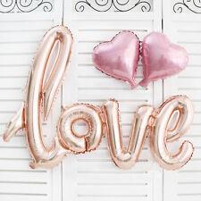 Engagement Anniversary Wedding Celebration LOVE Heart Foil Balloons Party Decor