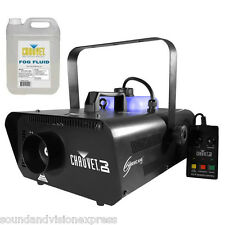 Chauvet Hurricane 1301 Powerful Smoke Fogger Fog Machine + Timer Remote + Fluid