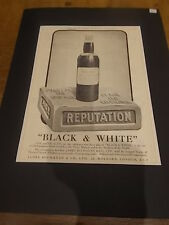Vintage 1924 BLACK & WHITE SCOTCH WHISKY Advertisement  Advert 40x30cm PUNCH MAG