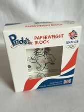 Pride The Lion - Official Team GB - Paperweight Block - New