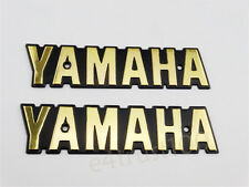 Gold Emblem Decal For Yamaha Fuel Gas Tank Badge Motorcycle RXS LS100 XS650 NEW