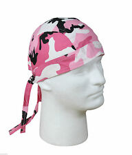 Pink Camo Cotton Biker Headwrap Bandana Do Rag Rothco 5195
