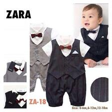 Zara - Baby Boy Tuxedo or Formal Attire - Best for Pictorial, Party or Gift Gray