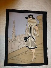 1920's Fashion Ladies Fabric Cotton Craft Panel Quilting VINTAGE FASHION