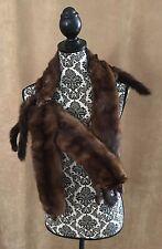 Mink Stole 4 Full pelt Body fur women shawl brown wrap coat vintage head feet