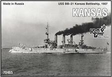 1/700 Combrig Models Battleship USS Kansas BB-21 1907
