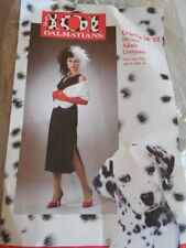 Disney 101 DALMATIONS Villian CRUELLA DE VIL Deluxe 5 Pc ADULT COSTUME Sz OSFM