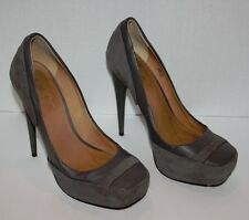 Womens L.A.M.B. Gray Leather Pumps Heels Size 6 M