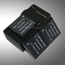 Mains Charger +3x Battery for Panasonic DMW-BLH7E Lumix DMC-GF7 DMC-GM1 DMC-GM1D