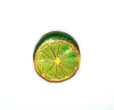 RARE VINTAGE ESTATE CROWN TRIFARI LIME BROOCH PIN ENAMEL GOLD PLATED