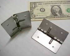 """12 Spring Close Hinges, Cabinet Hardware 2-3/4"""" Compartment Door Cover Latch New"""