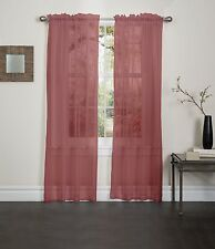 "BURGUNDY SHEER VOILE WINDOW CURTAIN PANEL, GREAT QUALITY SHEER CURTAIN - 55""X84"""