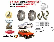 FOR YUGO ZASTAVA FLORIDA SANA MIAMI 1989--  REAR BRAKE 2 x DRUMS + SHOES + KIT
