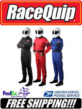 RaceQuip RED M Medium SFI 3.2A/1 1-Layer Racing Race Driving Suit #110013