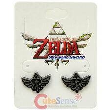 The Legend of Zelda Hylian Crest Stud Earrings Costume Jewelry Triforce Wing