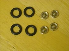 "1/43rd scale chrome wire wheels by K&R Replicas suitable for cars with 16"" wheel"
