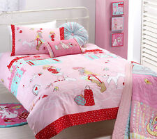 BORN TO SHOP Pink Red Shopping French Poodle Paris QUEEN Bedding Package