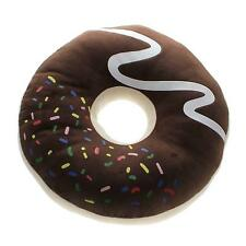 Chocolate Donut Shaped Seat Ring Plush Comfort Soft Cushion Pillow Cookie Cute