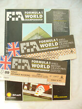 FORMULA 1 WORLD 14 15 JULY 1989 SILVERSTONE BRITISH GRAND PRIX + tickets
