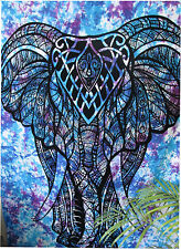 Elephant Tapestry Twin Indian Tapestry Wall Hanging Hippie Bedspread Decor Throw