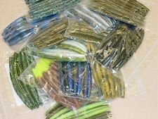 "5"" Stick Senko Style Mix and Match Assortment 100 count bag bulk Bass Worm"