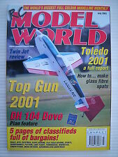 RC Model World - Radio Controlled Aircraft- July 2001 Complete with Unused Plan
