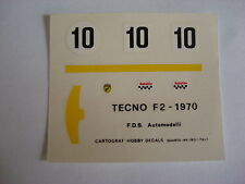 DECALS KIT 1/43 TECNO F2 1970 FDS AUTOMODELLI