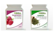 90 Raspberry Ketone & 90 Green Coffee Bean Extract Diet Weight Loss Bottle Pack