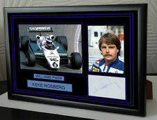 "Keke Rosberg Black Framed  Signed ""Great Gift"""