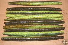"""7"""" Stick Senko Style Bull Frog 25 pack Bulk Bass Plastic Worm"""