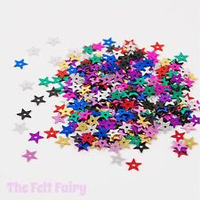 Mixed Large Star Sequins 100 Loose Sparkle Multi Coloured Mix - 13mm