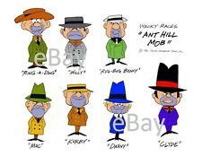 Hanna Barbera STYLE GUIDE PLATE - WACKY RACES - The ANT HILL MOB Gang
