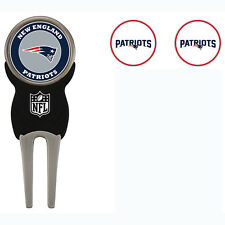 New England Patriots NFL Team Golf Divot Tool with 3 Magnetic Ball Markers