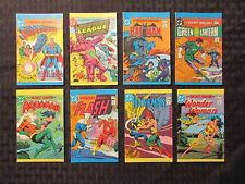 1981 DC Leaf Candy Mini-Comic SET of 8 Superman Batman Flash Wonder Woman #1 VF+